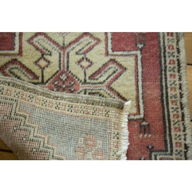 "Vintage Turkish Oushak Mat - 1'11"" x 3'1"" - Image 5 of 5"