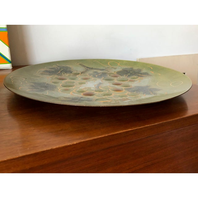1960s Sascha Brastoff Enamel Charger For Sale - Image 5 of 7