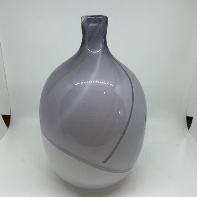Purple Kosta Boda Bengt Edenfalk Art Glass Vase For Sale - Image 8 of 8