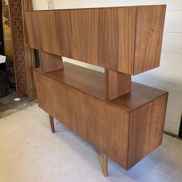 Svend Aage Larsen for Faarup Danish Modern Teak China Cabinet Bookcase Credenza For Sale - Image 10 of 11