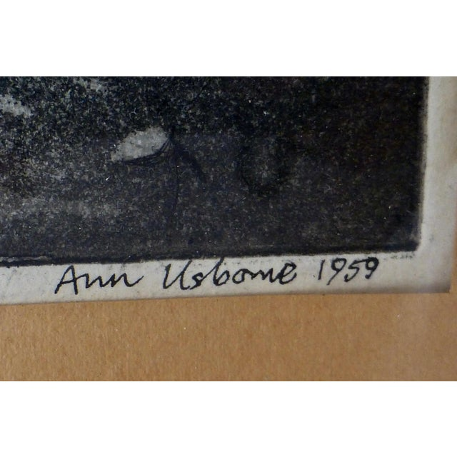 Black/White Print by Ann Usborne Signed Autumn Night For Sale In Boston - Image 6 of 10