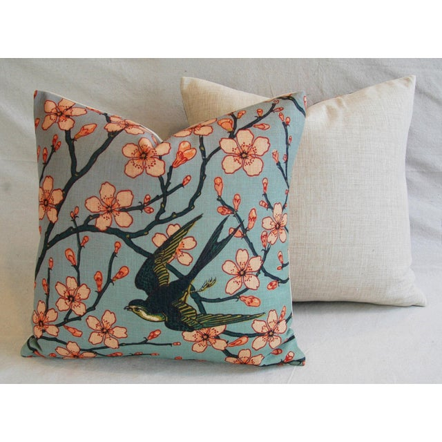 Magnolia Blossoms/Swallow Down & Feather Pillows - a Pair For Sale - Image 9 of 12