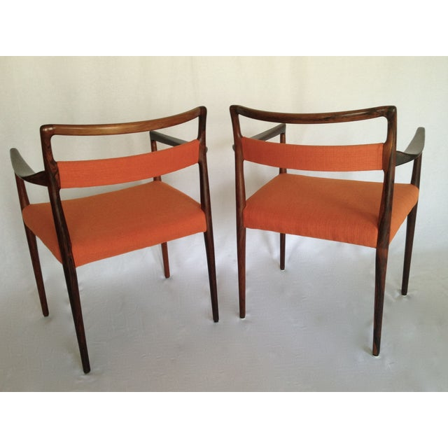 Mid-Century Rosewood Dining Chairs - Set of 8 - Image 4 of 10