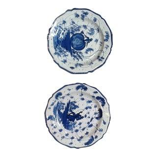 Blue & White Plates - A Pair