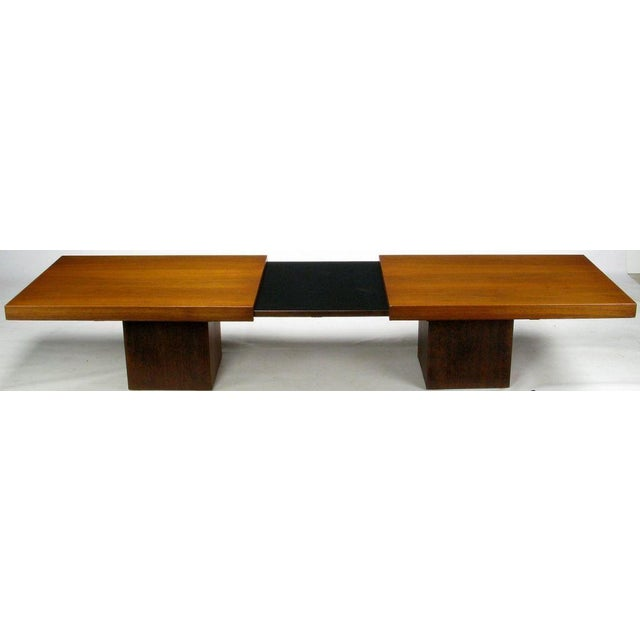 Walnut & Micarta Expanding Top Coffee Table By John Keal - Image 2 of 7