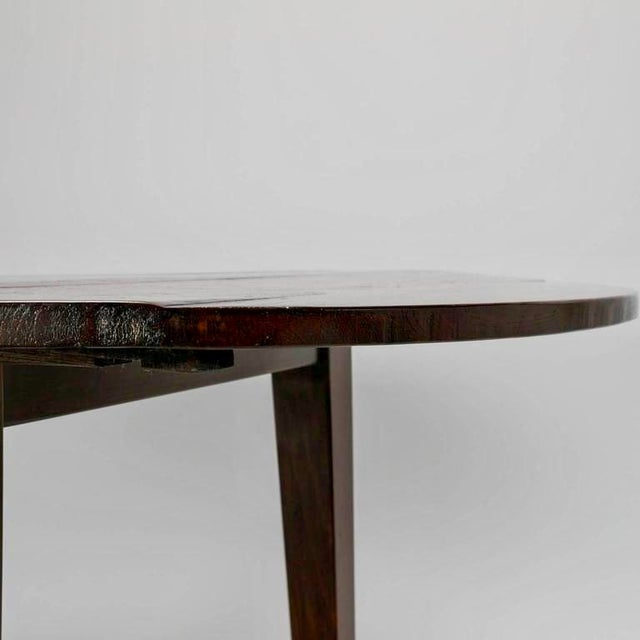 19th Century English Round Chestnut Farmhouse Dining Table - Image 7 of 9