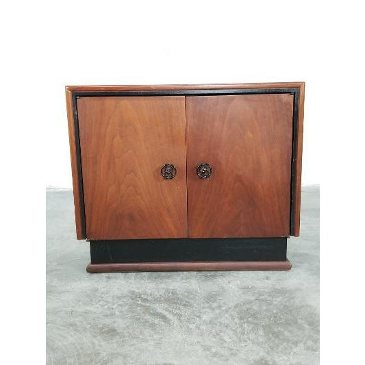 Mid-Century Brown Saltman Night Stand For Sale - Image 13 of 13