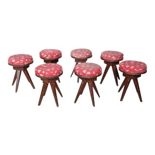 20th Century French Children Stools - Set of 7 For Sale
