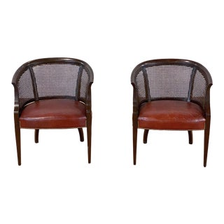 Vintage Barrel Back Chairs - a Pair For Sale