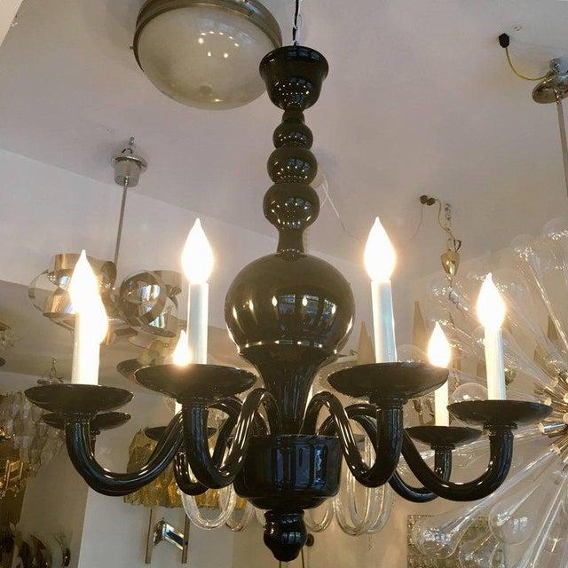 1970s Venetian Murano Glass Mid-Century Chandelier For Sale - Image 10 of 11