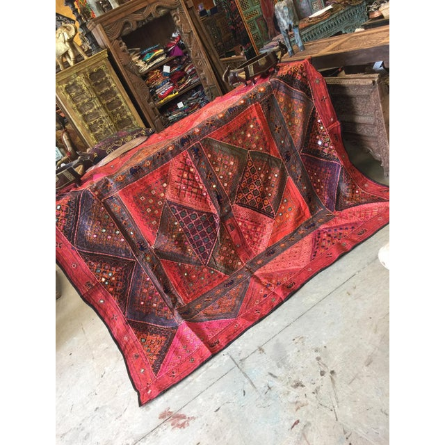 Cotton Imported The range of most beautiful vintage sari hand embroidered Banjara tapestry.This is a great gift , unusual...