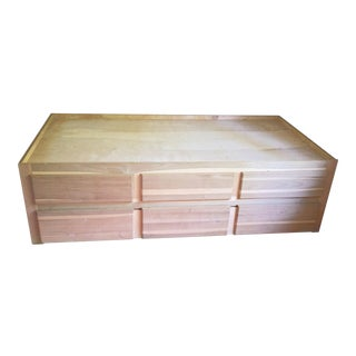 Custom Made Solid Wood Twin Trundle Bed With Storage Drawers