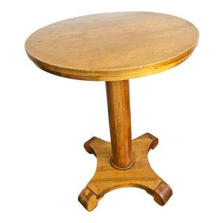 Vintage Carved Wood Round Pub Table