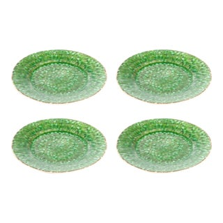 Bali Green Salad Plates - Set of 4 For Sale