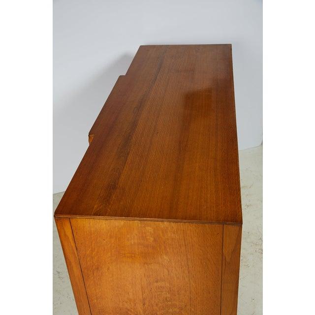 Mid-Century Modern Midcentury English Oak Sideboard For Sale - Image 3 of 13