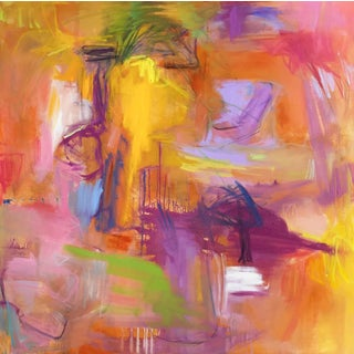 """Marrakesh"" by Trixie Pitts Large Abstract Expressionist Oil Painting For Sale"