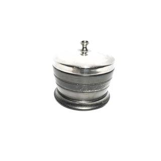 Vintage Indian Silver Tone Lidded Jar