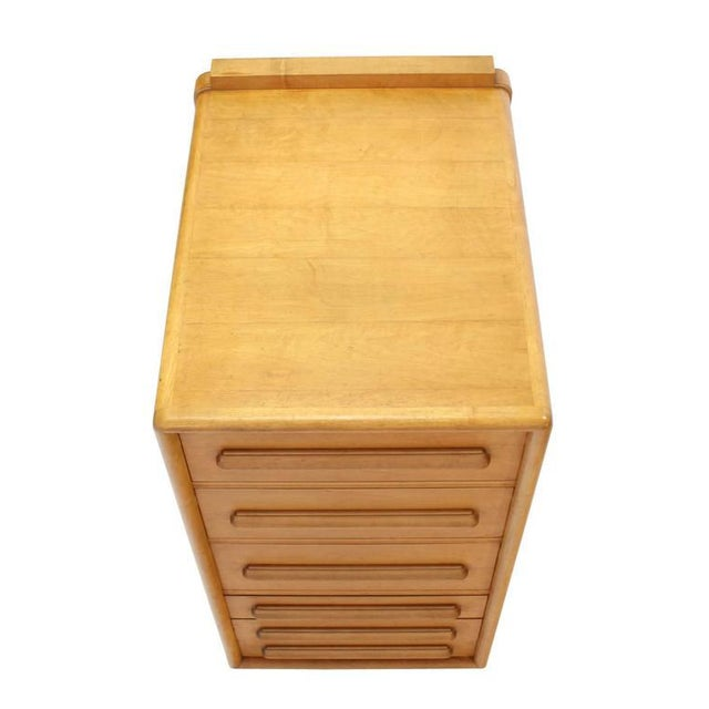 Wood Deep Drawers Heavily Custom Built File Cabinet For Sale - Image 7 of 9
