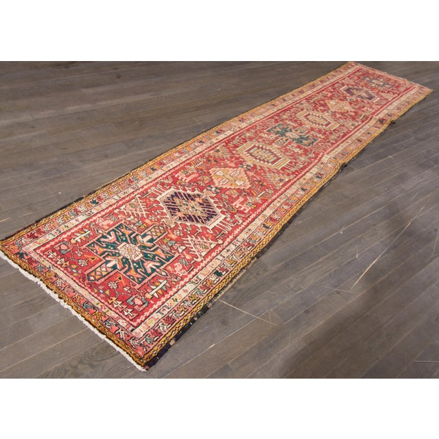 "Apadana - Vintage Persian Heriz Rug, 2'2"" x 12'11"" For Sale - Image 5 of 5"