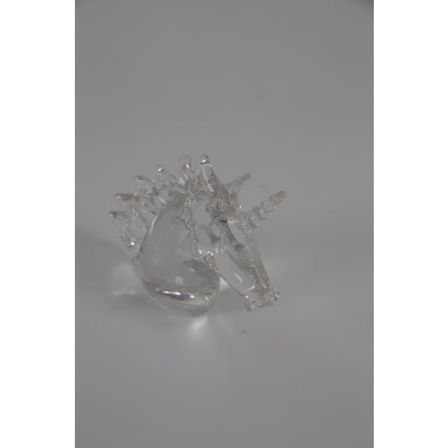 Crystal Marcolin Art Crystal Unicorn Sculpture For Sale - Image 7 of 7