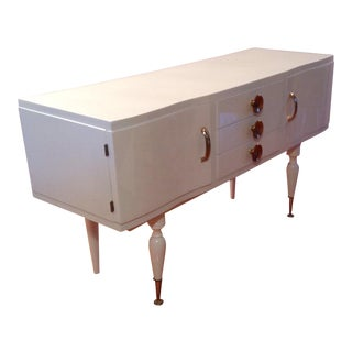Modern Serpentine Sideboard Server Buffet For Sale