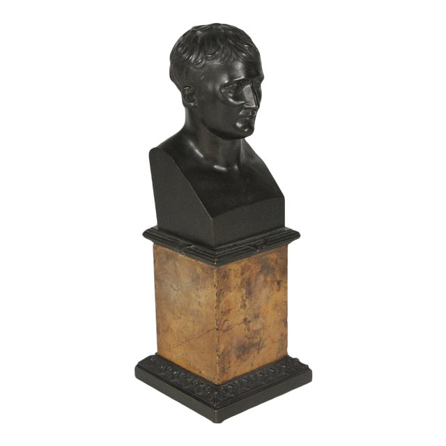 1900's Traditional Bronze Bust on a Marble Base For Sale