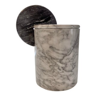 1970s Marble Decorative Vase With Lid For Sale
