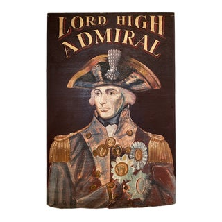 Early 20th Century English Lord High Admiral Pub Sign For Sale