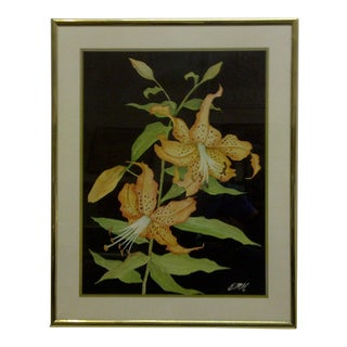 """Orchids"" Original Print by Emh For Sale"