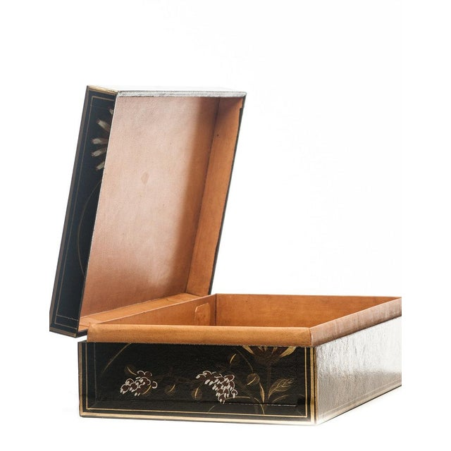 """Lawrence & Scott Lawrence & Scott Black Thrive Leather Box (17"""") For Sale - Image 4 of 4"""