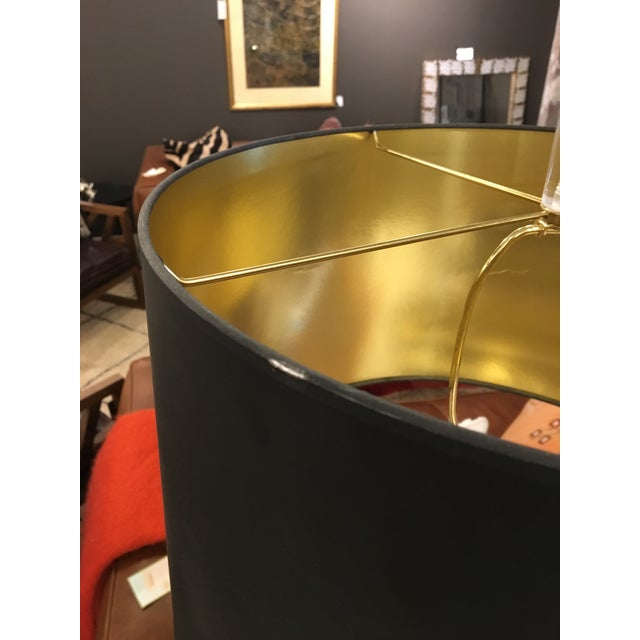Vintage Lucite and Bass Lamp - Image 7 of 9