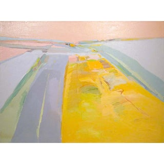 """1980s """"View From Nicollet Island"""" Abstract Aerial Landscape Oil Painting by James Conaway For Sale"""