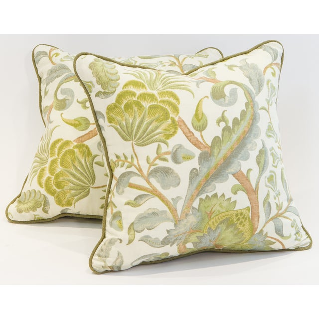 "These new 20""x20"" down pillows feature concealed zipper closures. Each pillow is crafted from a contemporary printed..."
