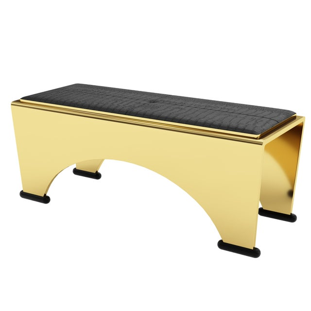Not Yet Made - Made To Order Solid Bronze Bench by Artist Troy Smith - Limited Edition - Contemporary Design For Sale - Image 5 of 6