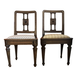 19th Century Walnut Side Chairs - a Pair For Sale