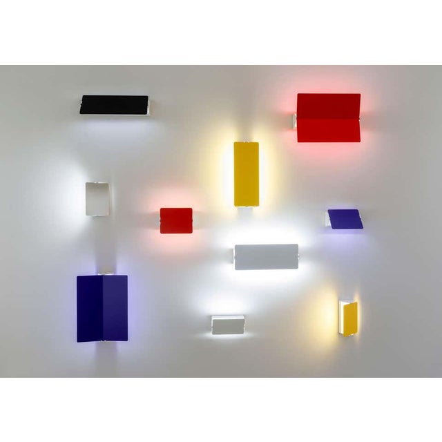 Charlotte Perriand Blue 'Applique á Volet Pivotant' Wall Lights - a Pair For Sale - Image 12 of 12