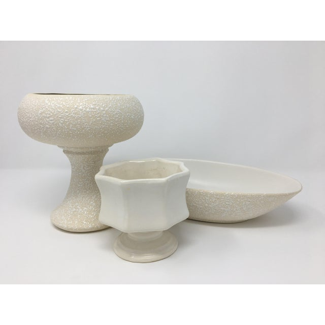 Mid-Century Modern Winter White Pottery Collection - 3 Pieces For Sale - Image 13 of 13