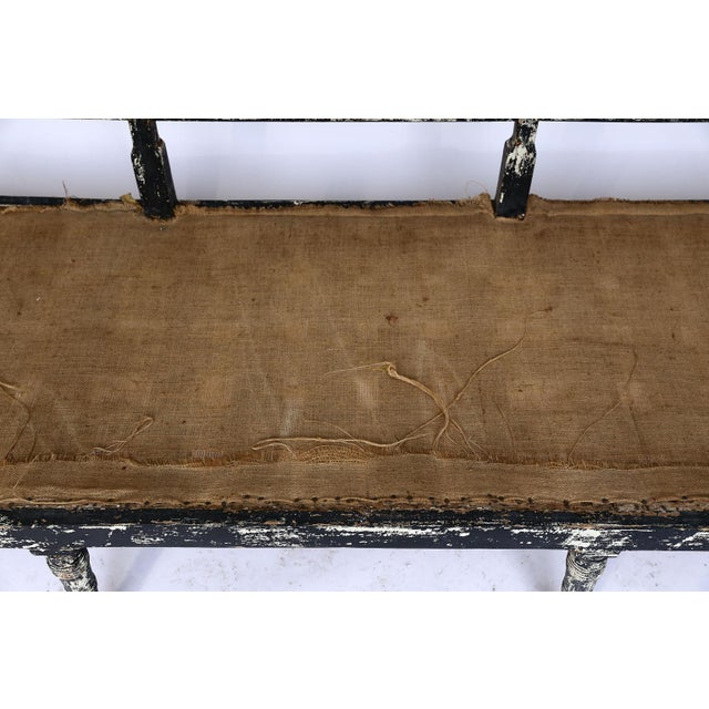 White Swedish Cane Back Settee For Sale - Image 8 of 13