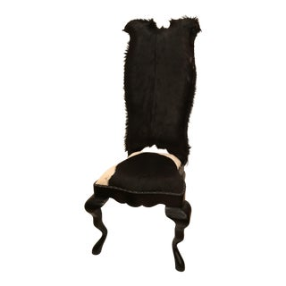 Cowhide Upholstered Penwood Root Side Chair
