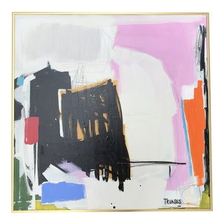 """Its a Wrap"", by Sarah Trundle, Contemporary Abstract Framed Painting For Sale"