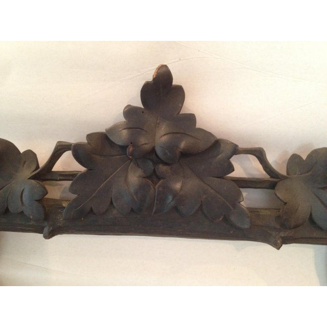 Antique Carved Black Forest Frame - Image 3 of 9
