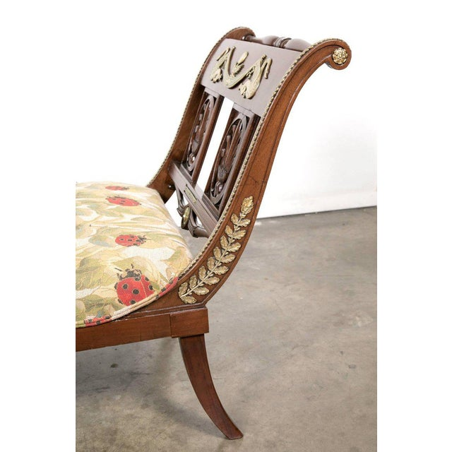 Early 19th Century Early 19th Century French Empire Period Mahogany Lit De Repos Chaise Longue For Sale - Image 5 of 11