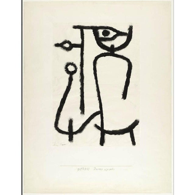 Paul Klee - Lady Apart (Dame Abseits) - Inspired Silk Hand Woven Pillow Cover - 18″ X 19″ For Sale - Image 10 of 11
