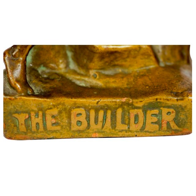 The Builder Bronze Bookends - Pair - Image 4 of 5