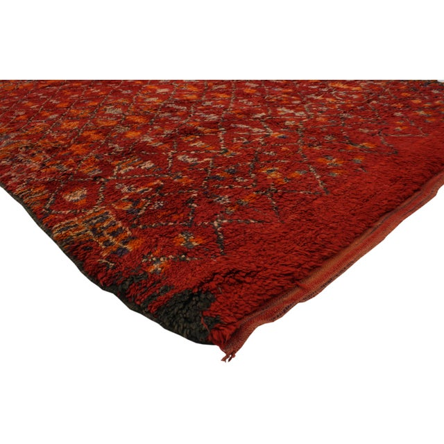 Berber Red Moroccan Rug with Modern Tribal Style, 5'10x9'8 - Image 3 of 4