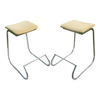 1970s John Behringer for Stendig Prometheus Bar Stools - a Pair For Sale