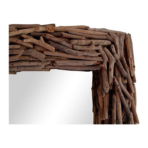 "30"" Natural Driftwood Wall Mirror - Image 2 of 3"