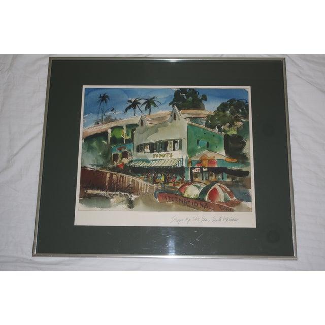 Santa Monica Shoreline Original Watercolor - Image 2 of 6