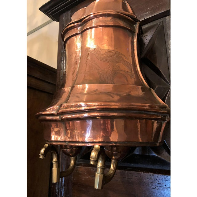 French Antique French Provincial Copper Lavabo, Circa 1890. For Sale - Image 3 of 4