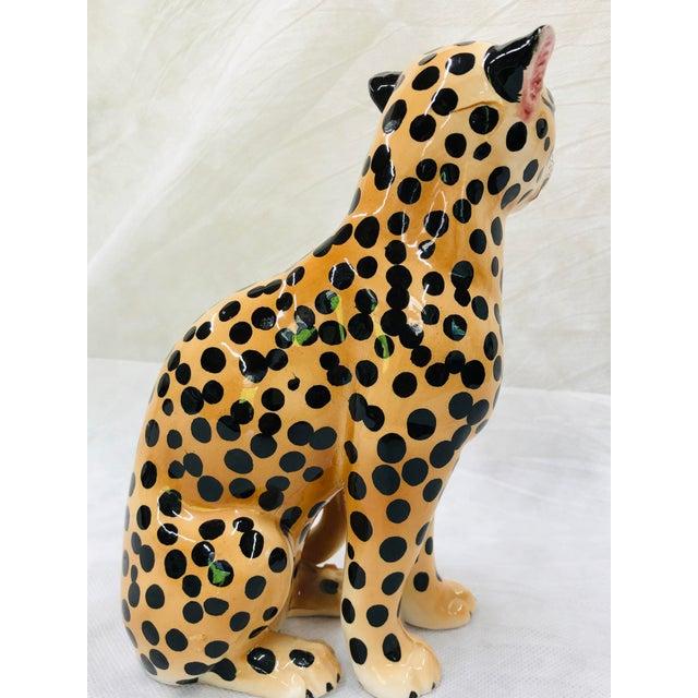 1970s Ceramic Cheetah Figurine For Sale - Image 4 of 9